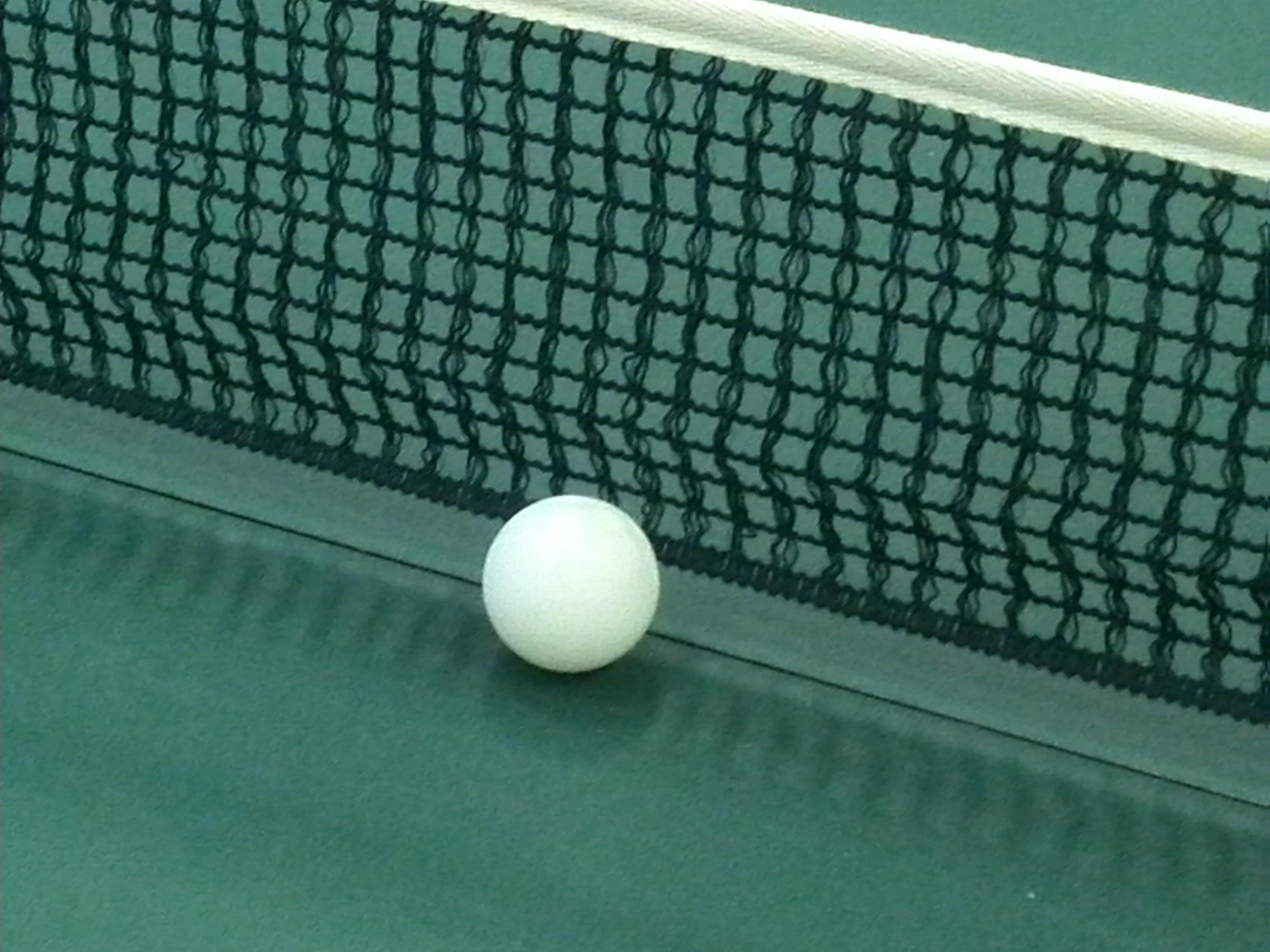 Tischtennisnetz und -ball