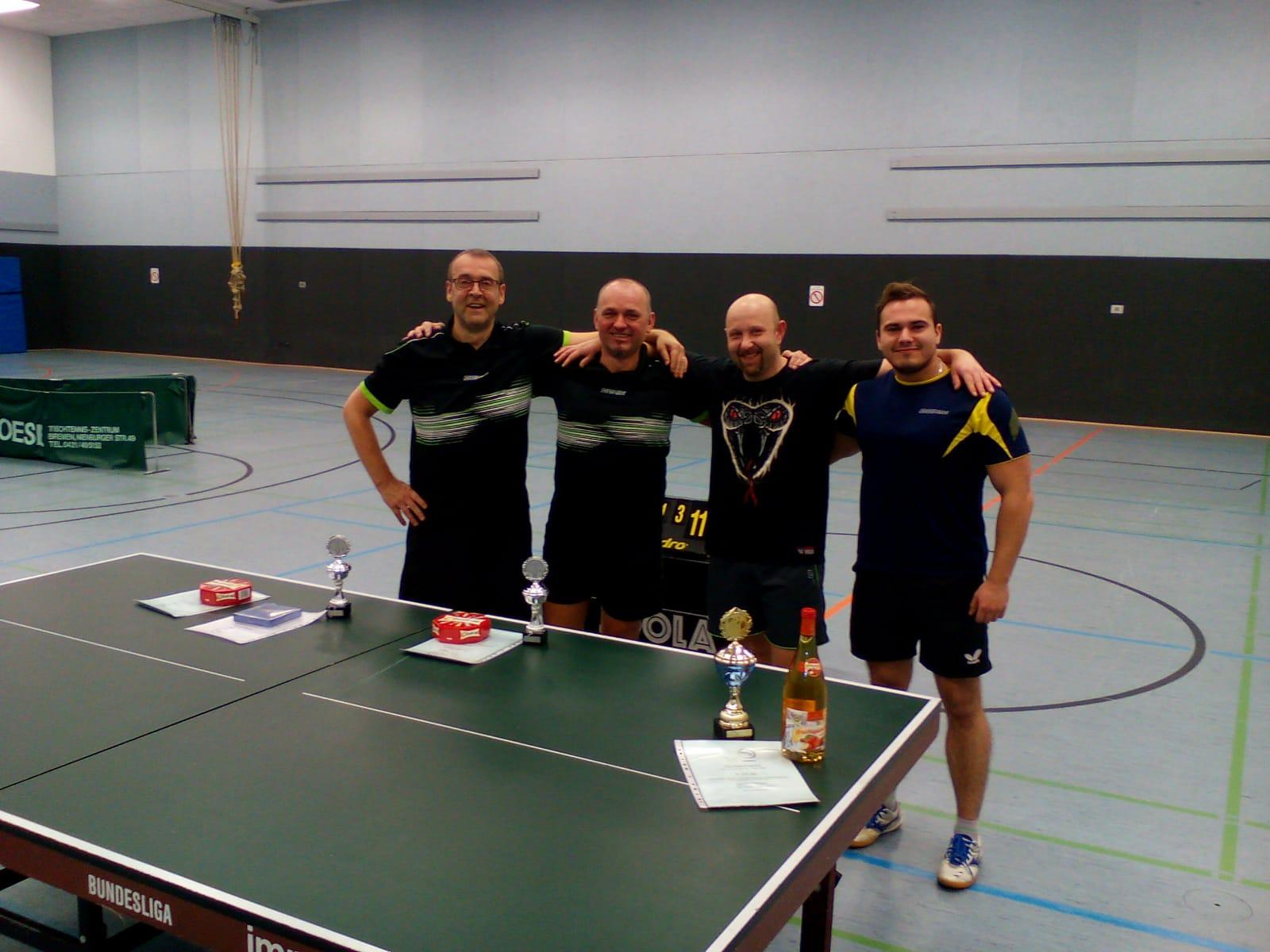 Rainer, Miroslaw, Timo und Steven