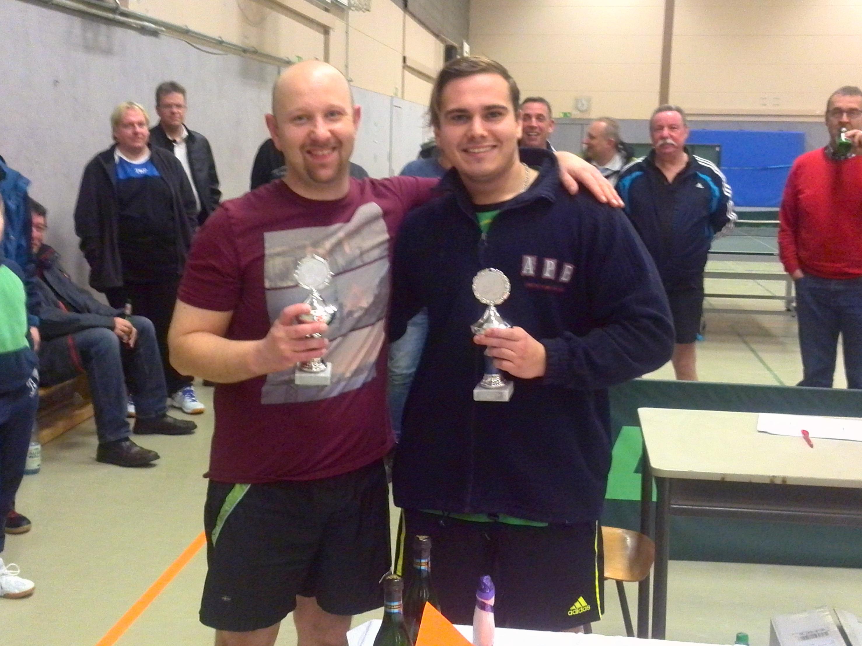 Vereinsmeister im Doppel 2017: Timo Müller und Steven Körner