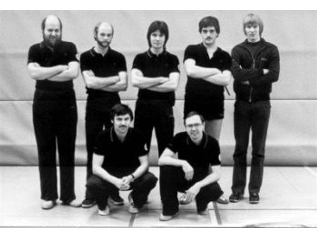 hinten von links : Rolf Daseke, Wolfgang Stättel, Willi Kaiser, Harald Grote, Klaus-Dieter Paetz --- vorne von links : Horst Hildebrandt, Horst Affeldt