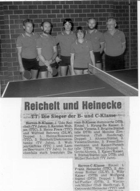 von links - ???, Rudi Pietsch, Willi Kaiser, Brigitte Stättel, Wolfgang Stättel, Heino Postera