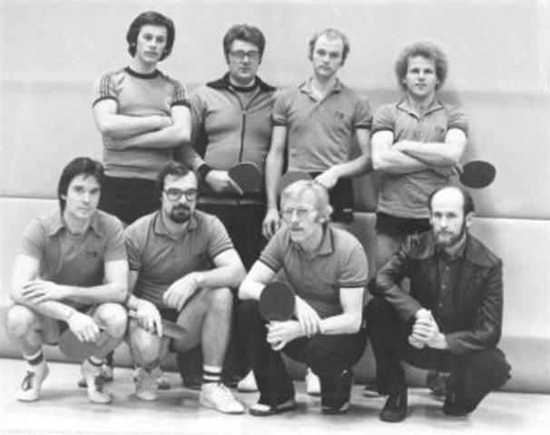 hinten von links - Holger Fiedler, Horst Domke, Wolfgang Stättel, Hansi Grehl --- vorne von links - Willi Kaiser, Hans Georg Daus, Heino Postera, Rudi Pietsch