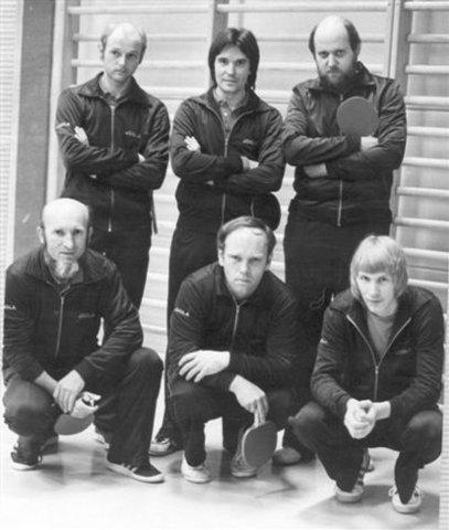 hinten von links - Wolfgang Stättel, Willi Kaiser, Rolf Daseke --- vorne von links - Siegfried Nowara, Bernd Schreiber, Klaus-Dieter Paetz