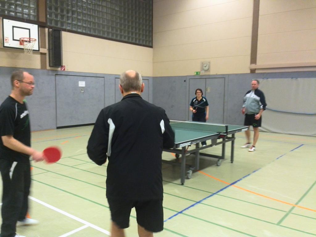 Turnierspiele mit gemischten Doppeln