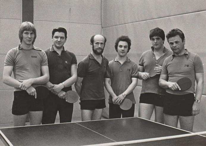 von links - Klaus-Dieter Paetz, ???, Rudi Pietsch, Werner Meyer, Harald Grote, Gunther Willer