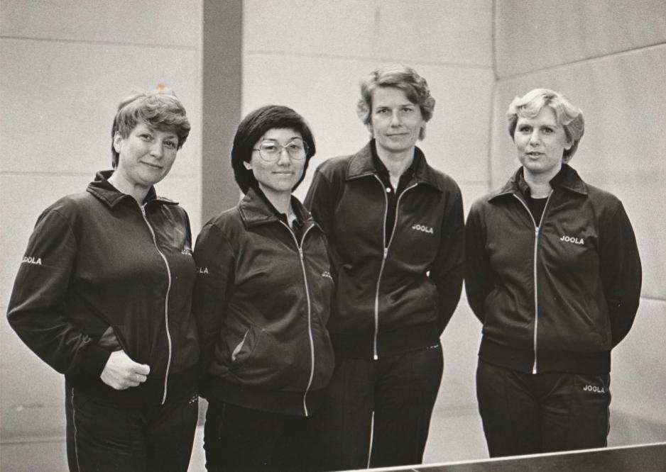 von links - Anneliese Schreiber, Hyung-Re Kaiser, Karin Pietsch, Heidi ...